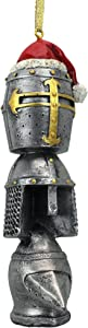 Design Toscano Christmas Tree Medieval Helm Holiday Ornament-Knight Helmet Armor Totem Statue, Multi/Color