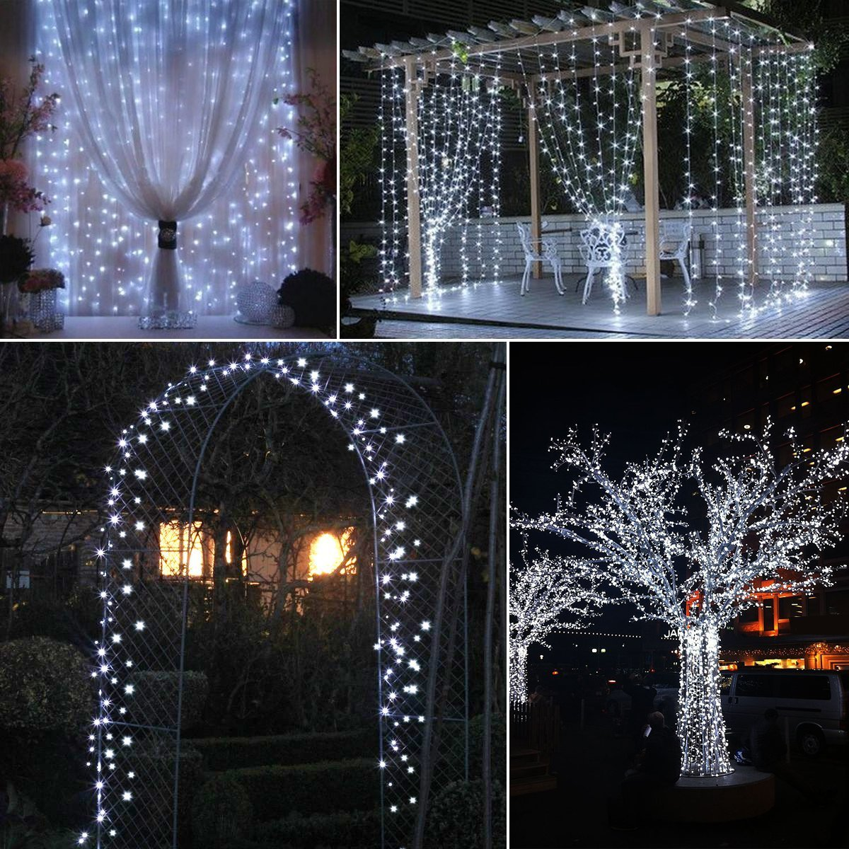Garden Christmas Party 72ft Copper Wire Lights Waterproof IP65 Starry Lights for Bedroom Valentines Day Decorations KANGXIONG Solar Powered String Lights 200 LED Patio Warm White