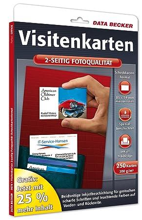 Data Becker Cartes De Visite Format Carte Credit Qualite Photo