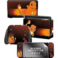 "Controller Gear Officially Licensed Nintendo Switch Skin & Screen Protector Set - Pokémon - ""Charmander Elemental"" Set 1"