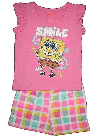 amazon com spongebob squarepants toddler girls shirt shorts