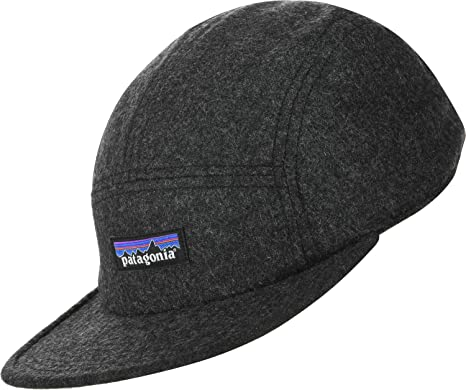 10a0f650 Patagonia Hats Recycled Wool 5 Panel Cap - Grey Adjustable: Amazon ...