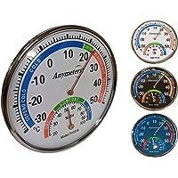 O&W Security Termómetro con higrómetro analógico analógico de temperatura y humedad para interior y exterior, 24 x 5,5…