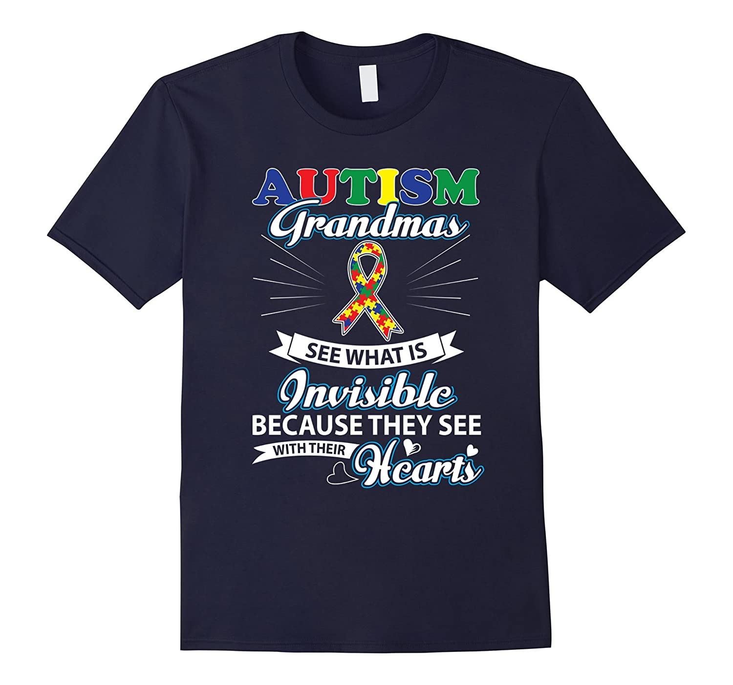 Autism Awareness Grandma See What Is Invisible Tshirt-TH
