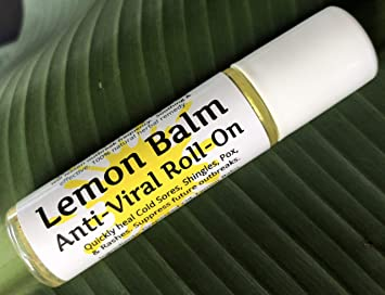 Lemon Balm Cold Sore & Shingles ROLL-ON! 10 ml, Quickly Soothe Blisters,  Chicken Pox, Rashes,