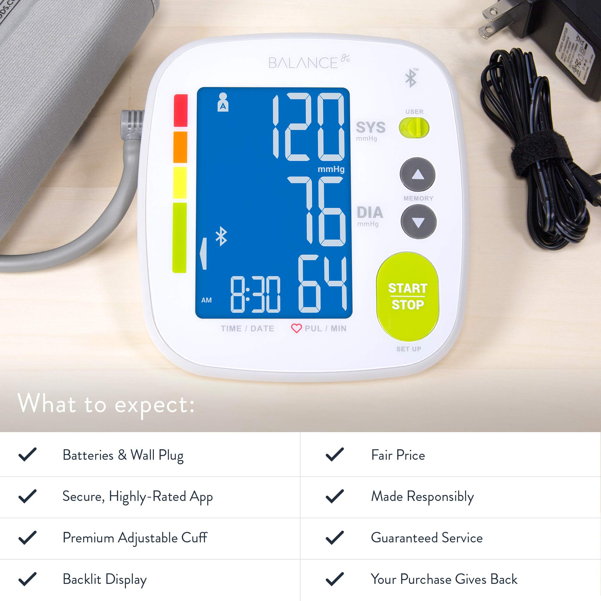 Bluetooth Blood Pressure Monitor Cuff by GreaterGoods by Greater Goods (Image #5)