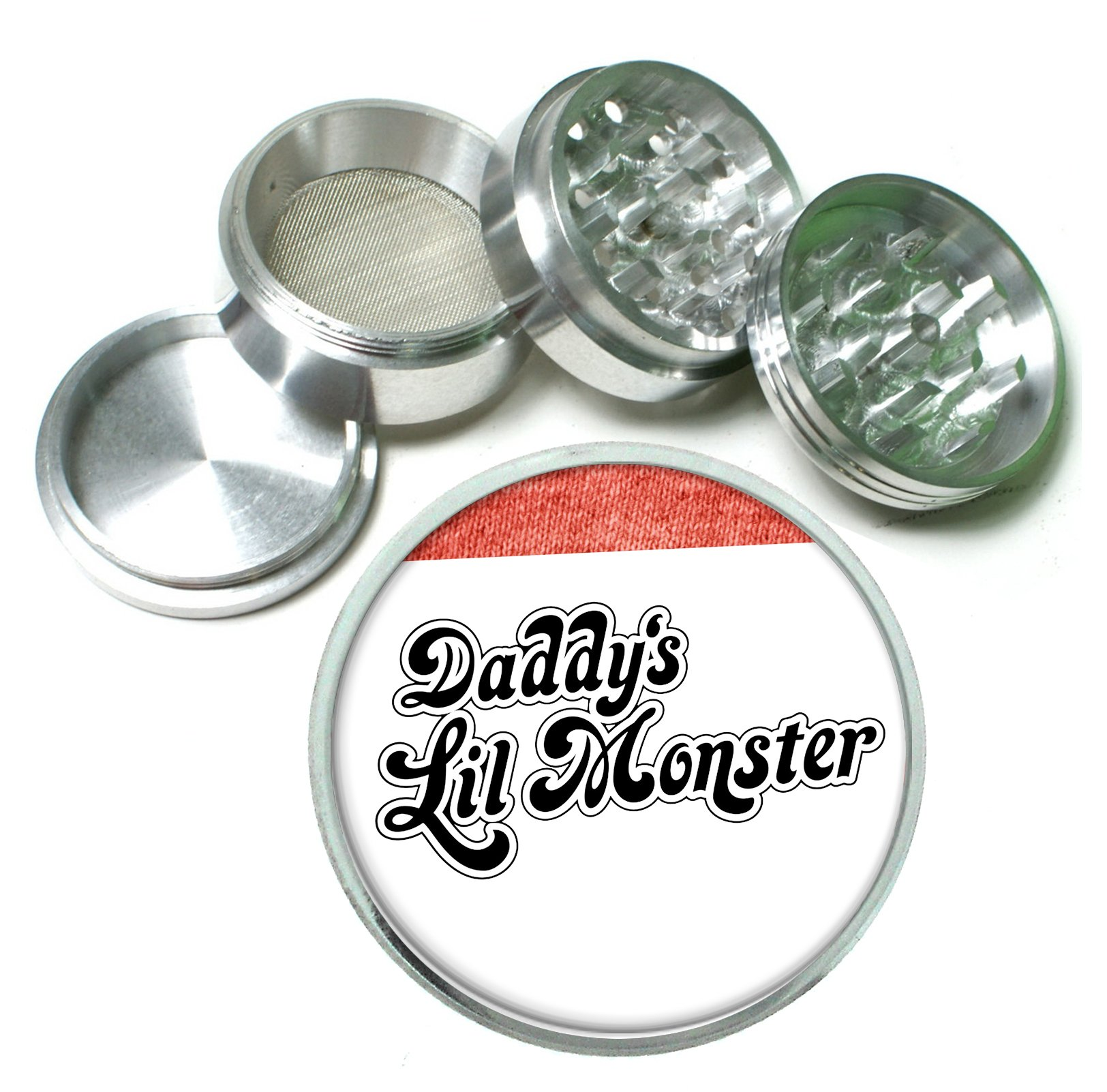 Daddy's Lil Monster Comic Book Movie Harley 4 Pc. Aluminum Tobacco Spice Herb Grinder