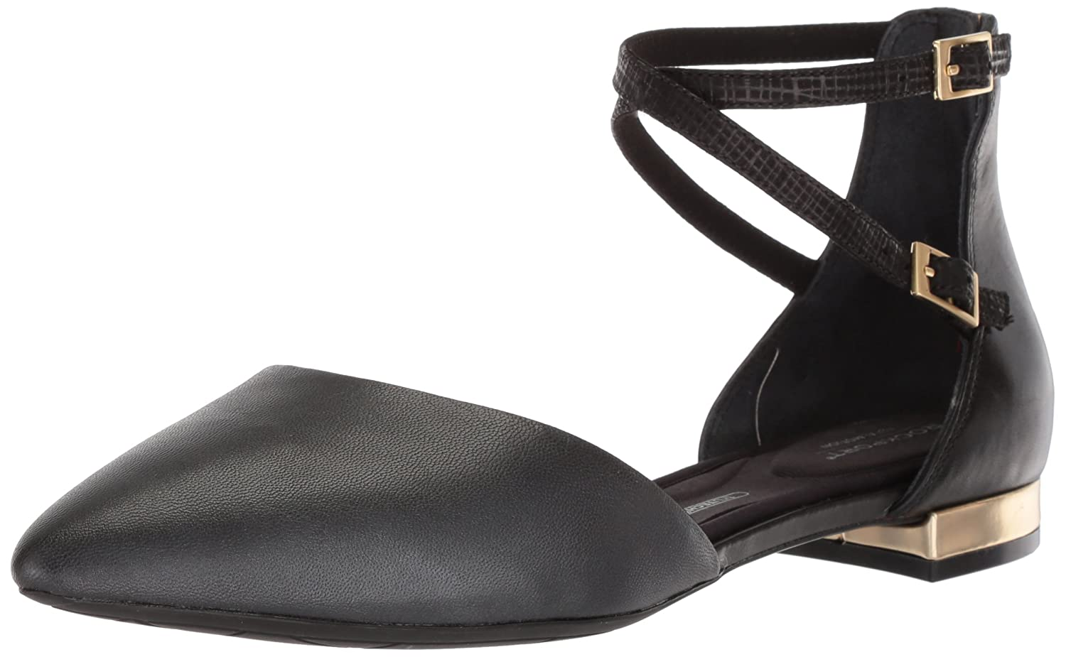 Rockport Women's Total Motion Adelyn Ankle Ballet Flat B073ZRR11S 10 W US|Black