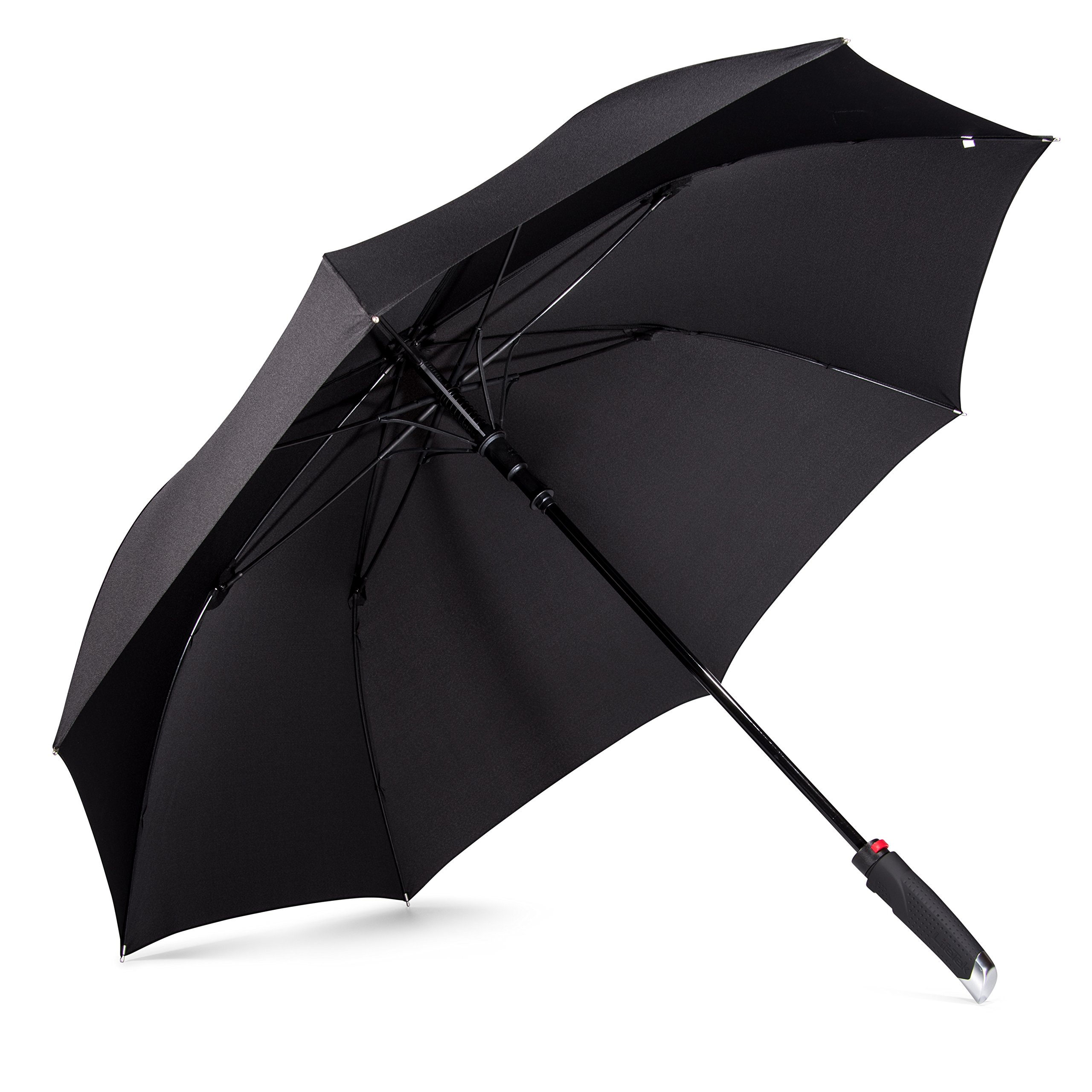 LifeTek New Yorker Umbrella - Extra Large Windproof Umbrella 54 Inch Coverage with Automatic Open Full Size Quick Drying Teflon Canopy