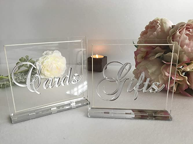Surprising Two Wedding Signs Cards And Gifts Sign Clear Acrylic Signs Luxury Table Decorations Custom Modern Font Freestanding Calligraphy Reception Decor Laser Interior Design Ideas Apansoteloinfo