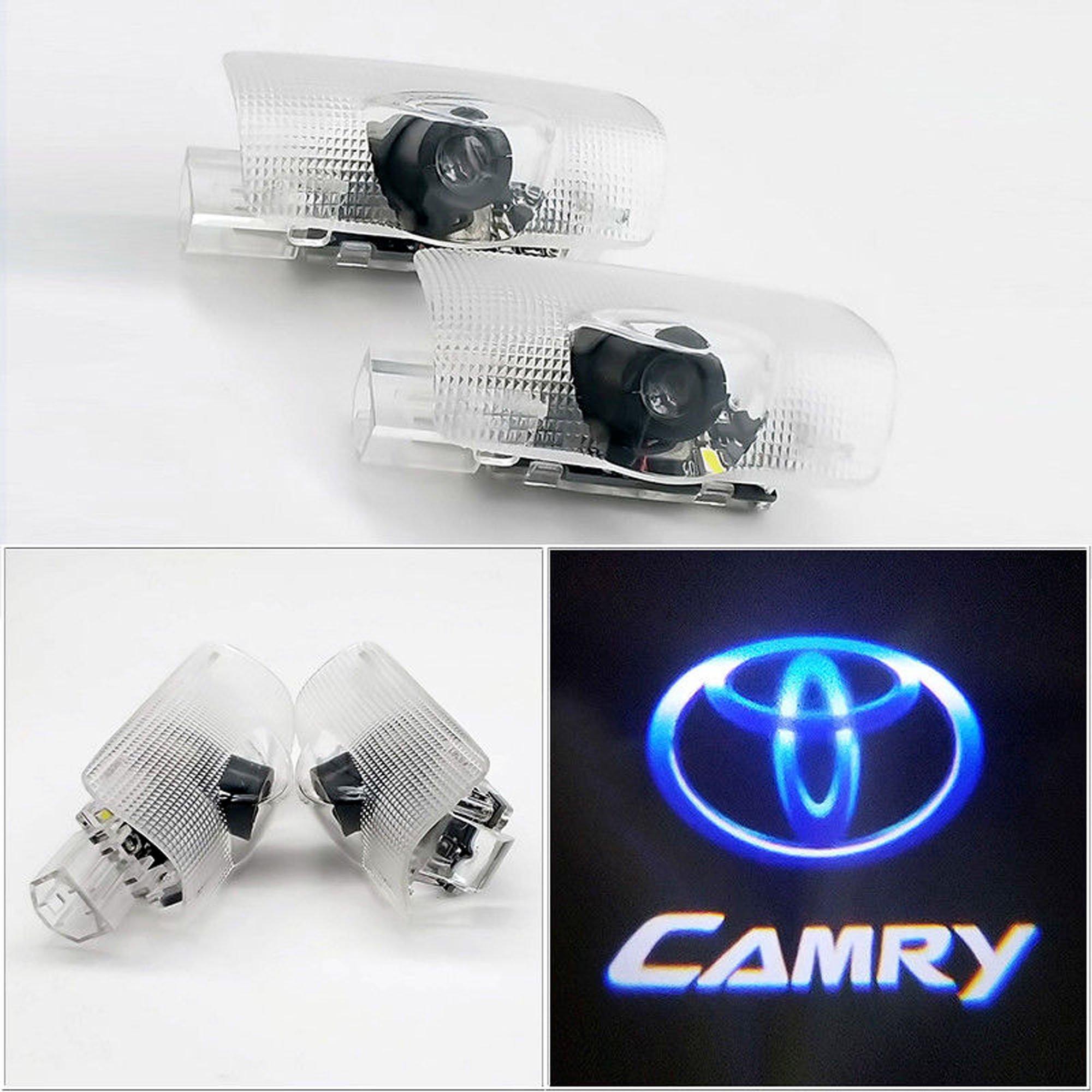 CNAutoLicht 2x LED Door Step Courtesy Light Welcome Light Shadow Logo Projector Lamp For Toyota Avalon Avanza Camry 2006-2016