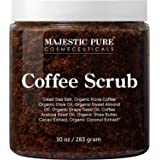 Majestic Pure Arabica Coffee Scrub - All Natural Body Scrub for Skin Care, Stretch Marks, Acne & Cellulite, Reduce the…