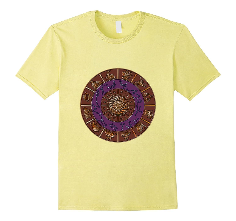 Zodiac Wheel Astrology Tee Shirt, Cool Zodiak Design T Shirt-TH