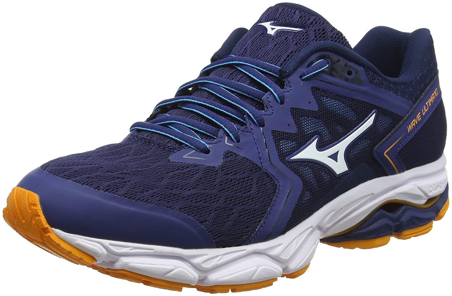 Mizuno Wave Ultima 10, Zapatillas para Hombre 48.5 EU|Multicolor (Blue/White/Forange 001)