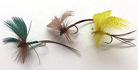 18 Mixed Drake Mayflies Size 10 Parachute etc Trout Flies Spent Mayflies