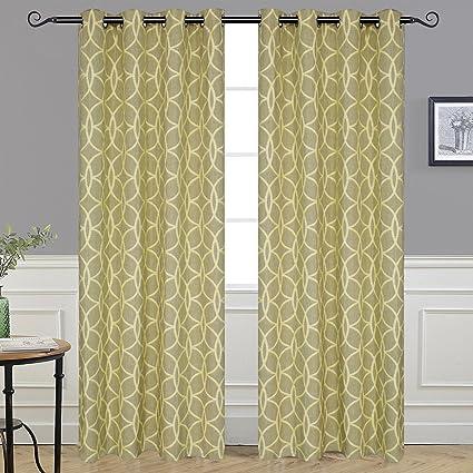 Amazon.com: Alice Brown Curtains/Drapes Circle Linen Curtains ...