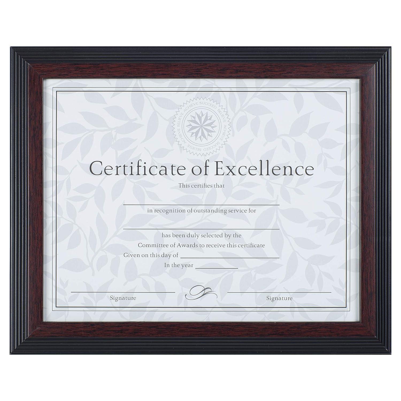 amazon com dax 8 5x11 solid wood walnut and black document frame