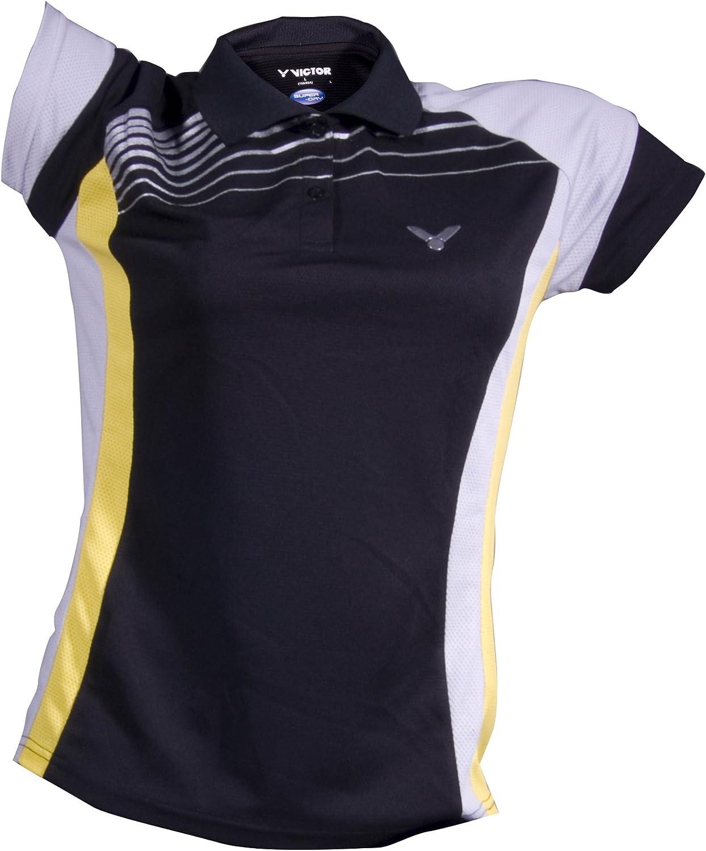 Victor 6410 - Camiseta Polo para Mujer, Color Negro, Gris y ...