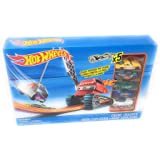 Boys Kids Toys Fun Play Hotwheels Crane Crasher Track Set (5 Cars Included)