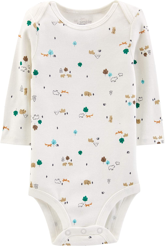 Simple Joys by Carters Baby Confezione da 5 body a maniche lunghe
