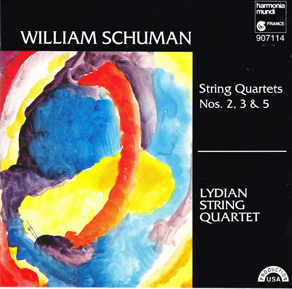 William Schuman: String Quartets No. 2, No. 3, No. 5