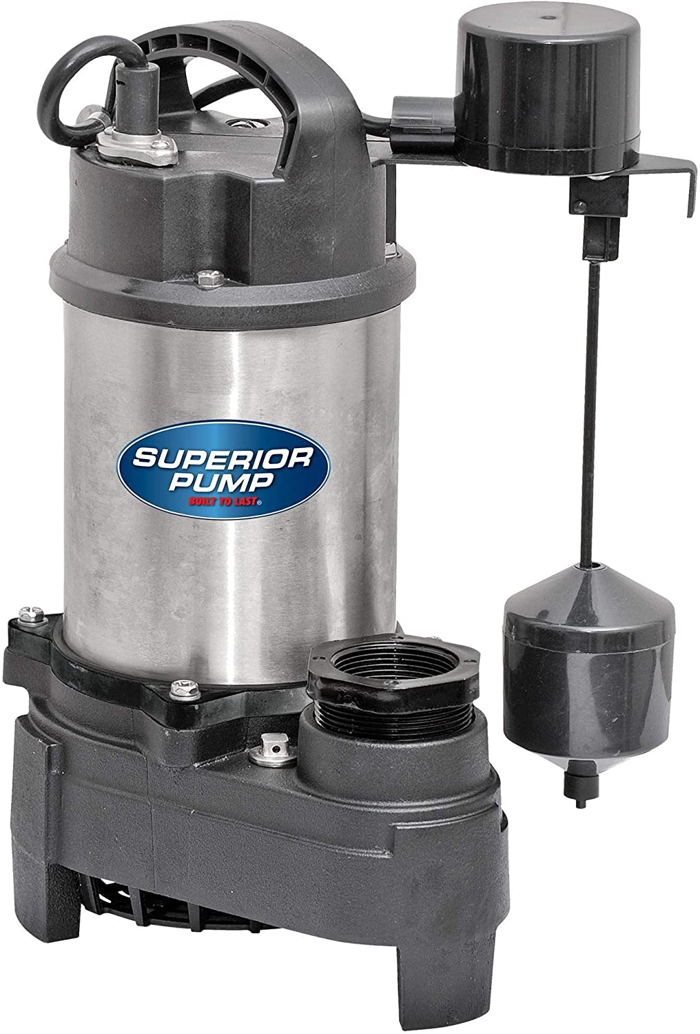 Superior Pump 92751 3/4 HP Stainless Steel and Cast Iron Sump Pump