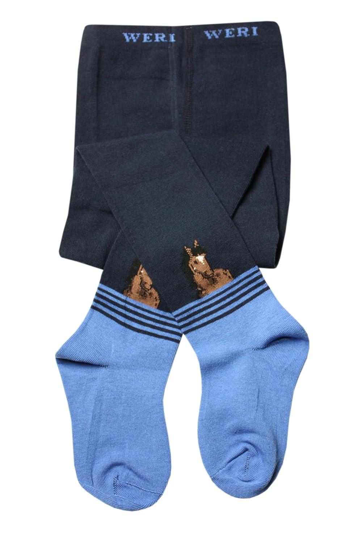 fuer die Kinder die die Tiere gern haben Pferdekopf Weri Spezials Baby und Kinderstrumpfhose in Marine