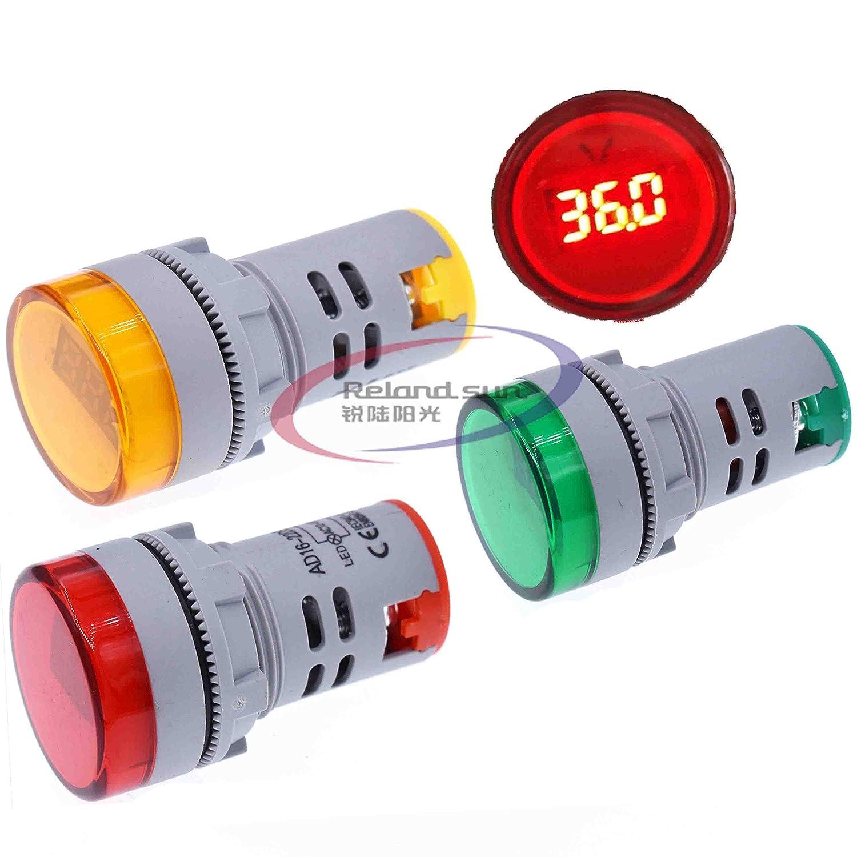 Digital LED Display Voltmeter Monitor 110v 220v Signal Indicator Light Panel