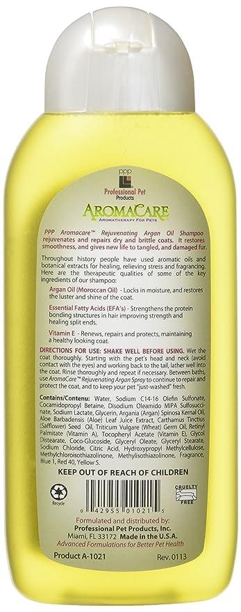 Aromacare Aceite de Argán Champú Rejuvenecedor, 400 ML: Amazon.es: Productos para mascotas