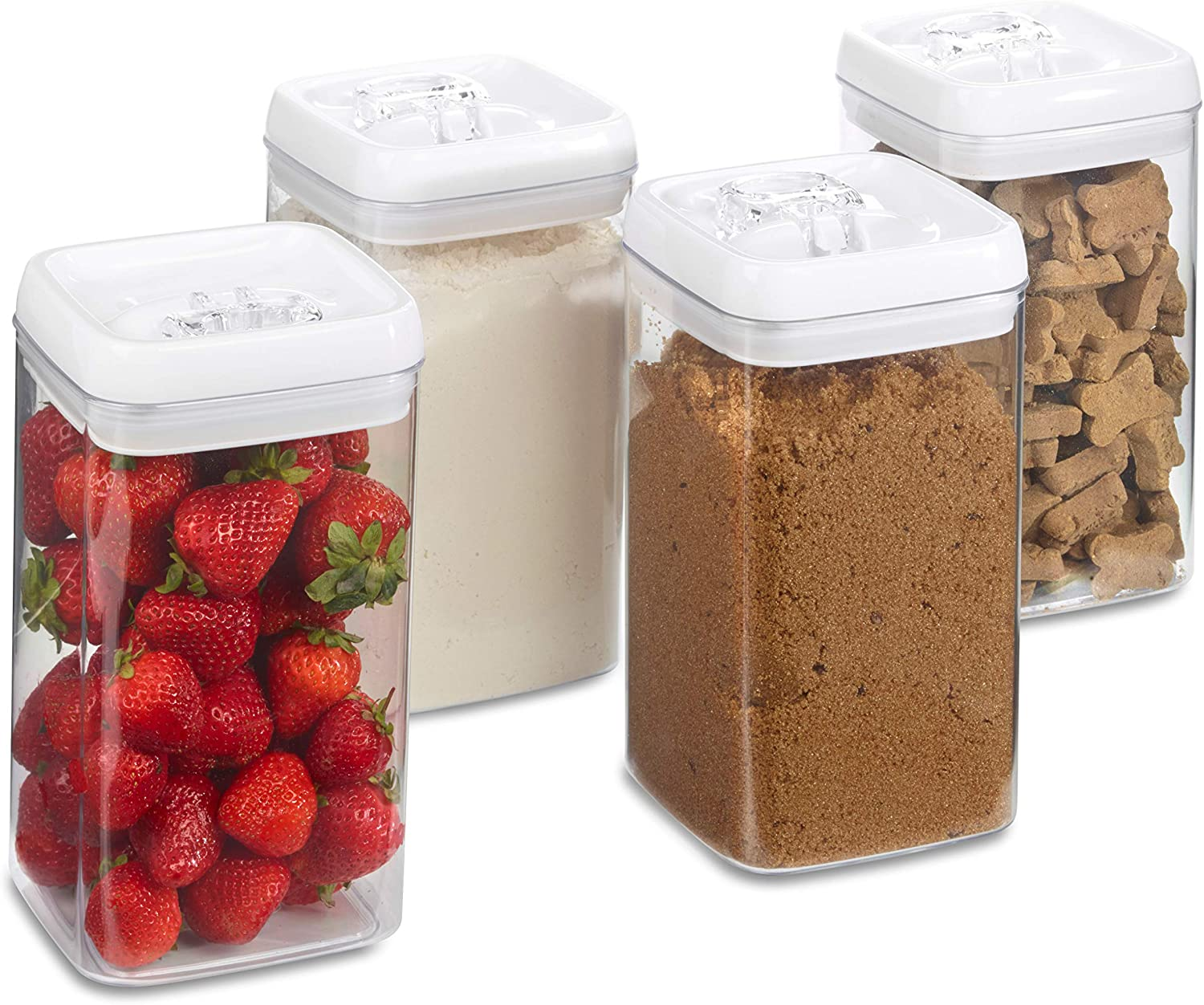 1790 Dry Food Storage Containers - AirTight Containers - 0.5 gallon (4 Pack)