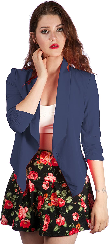 Hollywood Star Fashion Slim Casual Suit Blazer half sleeve Jacket Coat