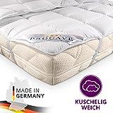 PROCAVE Micro Confort Protector colchón en Varios tamaños, Made in Germany, Funda colchón de Microfibra y poliéster, Soft Touch, Válido para Camas de Agua y Box Spring, 90x200 cm