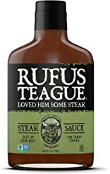 Rufus Teague STEAK SAUCE – 7oz Bottle – Finally a Sauce Worthy of Steak! – Kansas City – Thick & Rich made with Premium Ingredients – Certified Gluten-Free, Kosher & Non-GMO Verified
