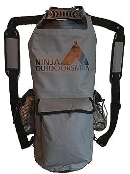 Ninja Outdoorsman 30L grande impermeable bolsa seca mochila ...