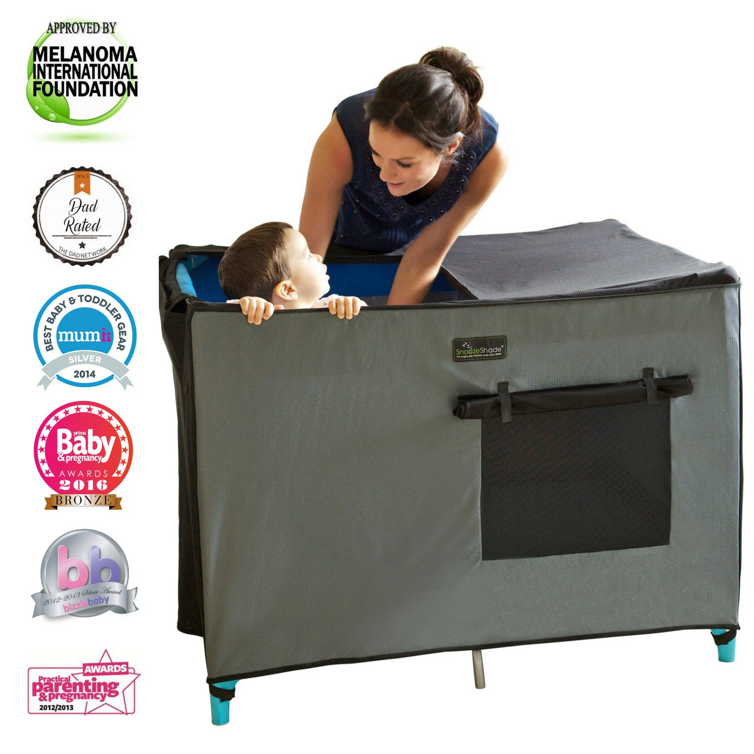 SnoozeShade for Travel Cots - blackout sleep canopy for standard travels cots   B007BADUH2