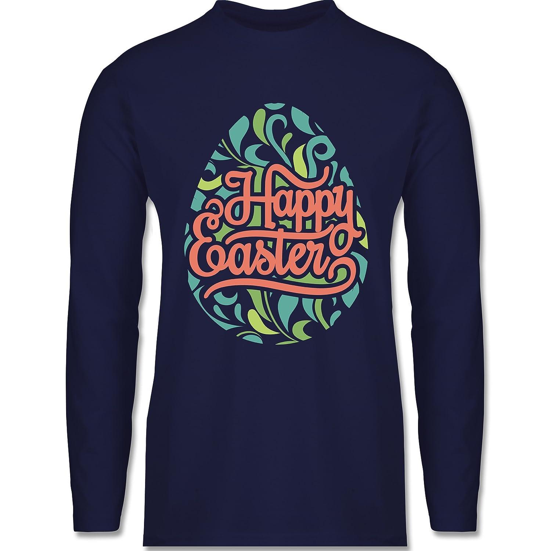 Shirtracer Ostern - Osterei Typografie floral - Herren Langarmshirt:  Shirtracer: Amazon.de: Bekleidung