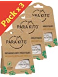 Pack of 3 x 2 Parakito Refill Natural Anti-Mosquito Bracelet and Clip