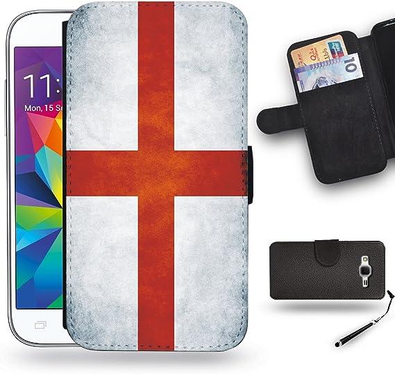 Buen Regalo//funda de piel carcasa para Samsung Galaxy Core Prime//bandera de Inglaterra: Amazon.es: Electrónica