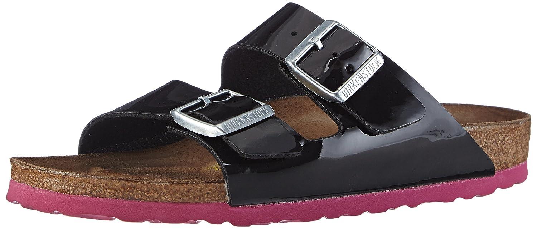 Birkenstock Arizona, Zapatos con Hebilla para Unisex Adulto 35 EU (normal)|Negro (Schwarz Lack Ls Pink)