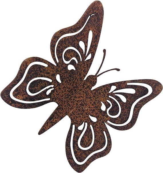 Gerry Gartendeko Schmetterling Mit Dorn Metall Rost Deko Amazon