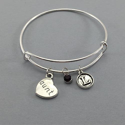 0827d28bd Amazon.com: Aunt - Auntie - Aunt Gift - Gifts for Aunts - Charm ...