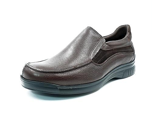Zapatos hombre tipo mocasin FLUCHOS, piel color libano - 8157 - 62n: Amazon.es: Zapatos y complementos