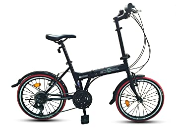 """ECOSMO 21SP 20F03BL - Bicicleta de ciudad plegable, 20"""""""