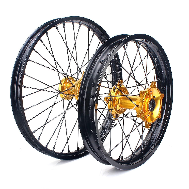 "Amazon TARAZON Front 21"" Rear 19"" Wheel Rim Gold Hub Set Suzuki"