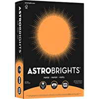 "Neenah Astrobrights Color Paper, 8.5"" x 11"", 24 lb/89 GSM, Cosmic Orange, 500 Sheets (21658)"