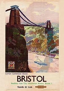 Bristol Travel A1 A2 A3 A4 A5 Vintage Art Print Poster