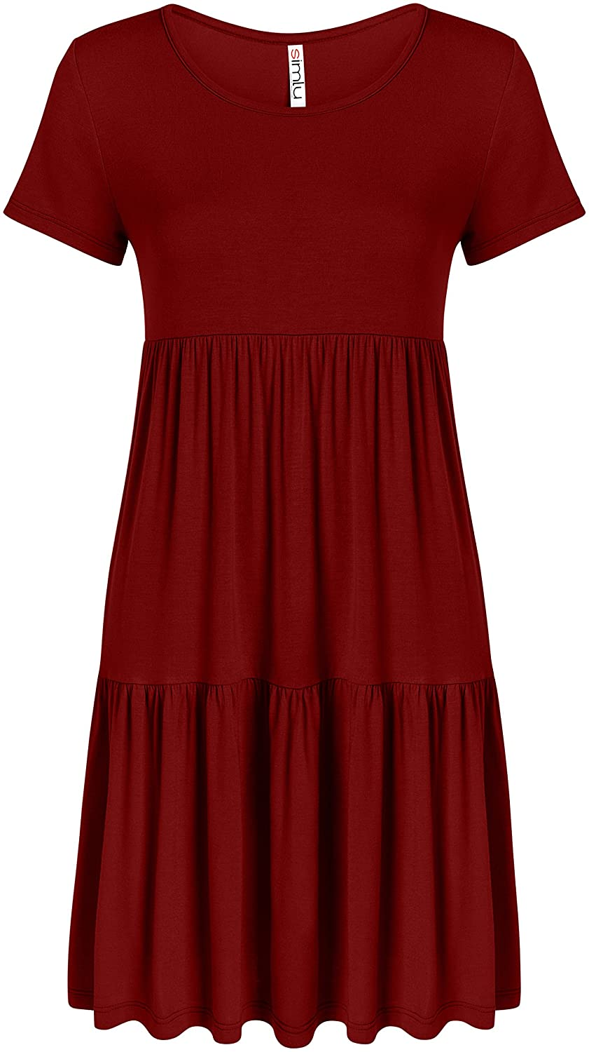 f18b6f28877 Casual Tiered T Shirt Dresses for Women Summer Sundress - USA at Amazon  Women s Clothing store