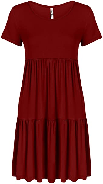 5465481a07f Burgundy Dress for Women Plus Size and Reg Burgundy Cute a Line Tunic Dress