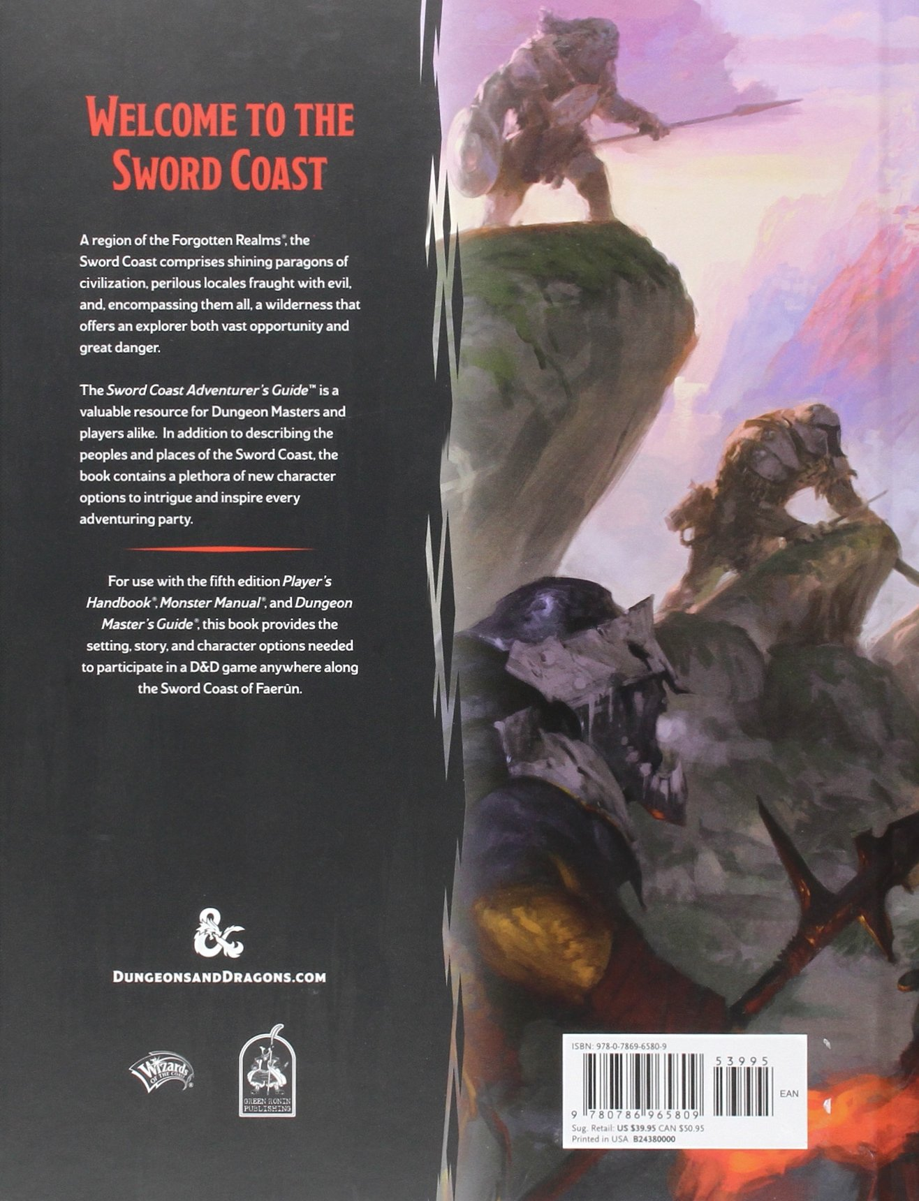Sword Coast Adventureru0027s Guide (Du0026D Accessory): Wizards RPG Team:  9780786965809: Amazon.com: Books
