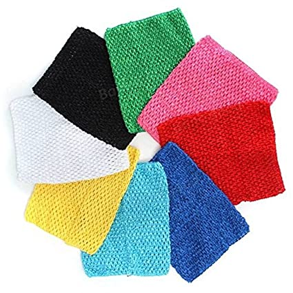 98151e9bcc Image Unavailable. Image not available for. Color  Saver 9 inch Children  Girls Crochet Tube Top Elastic Waistband Head Hairband DIY Girls Tutu Fluffy